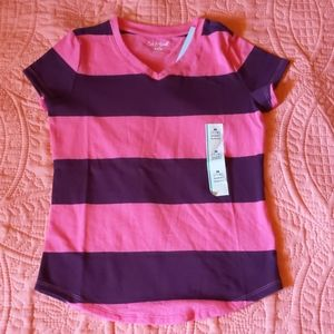 Cat & Jack Girls Pink and Purple Striped S…